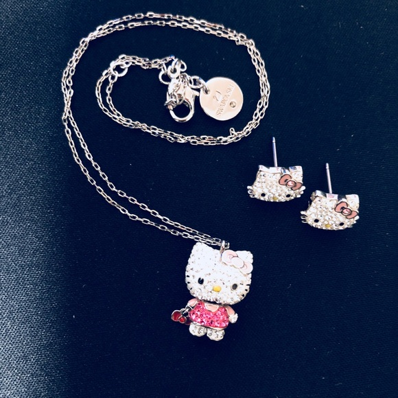9b5bff47c Swarovski Rare Hello Kitty Necklace &Earrings set.  M_5a7226b55521be5ca453b1e8